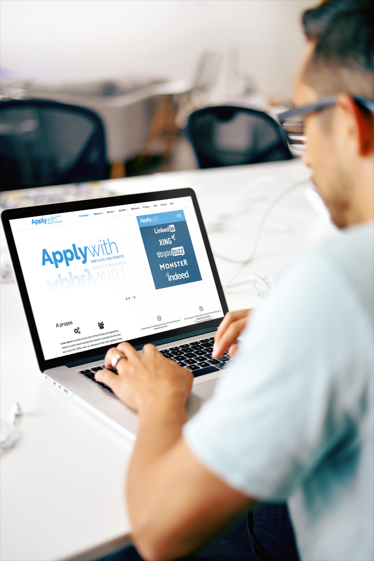 Applywith : un thème WordPress «corporate» 100% Made in Tekoway